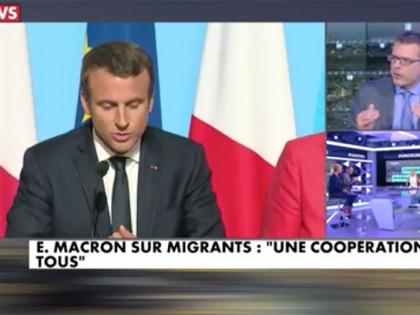 CNews / Punchline: «E. Macron sur les migrants: une coopération de tous»