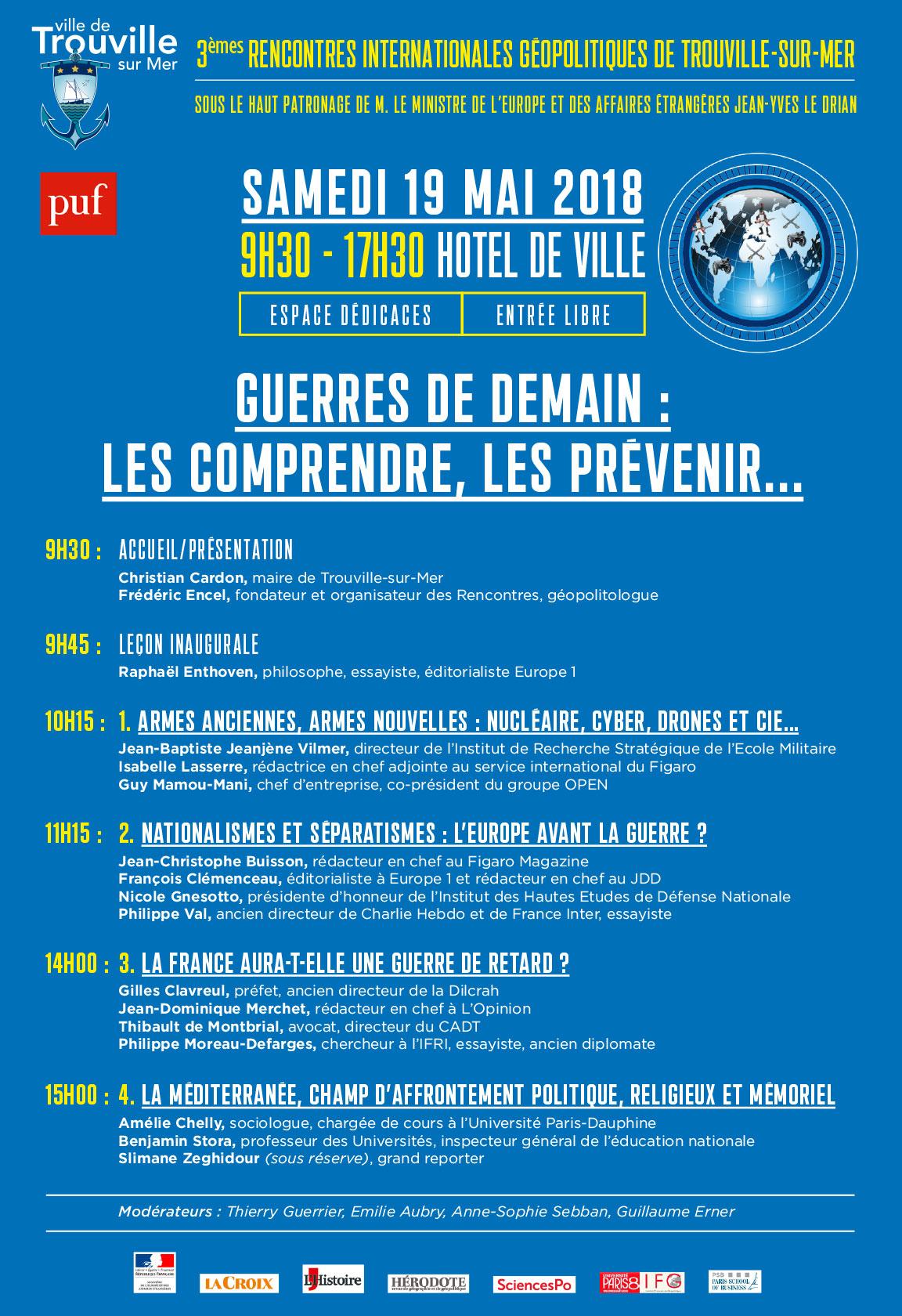 Thibault de Montbrial, invité des 3émes rencontres internationales géopolitiques de Trouvilles-sur-Mer 2