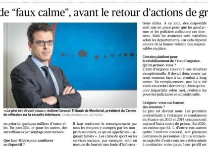 Thibault de Montbrial, «Le pire est devant nous», Le Figaro, Lundi 14 mai 2018