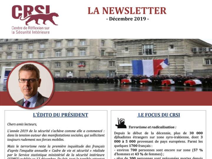 Newsletter du CRSI: l'actualité de la sécurité intérieure