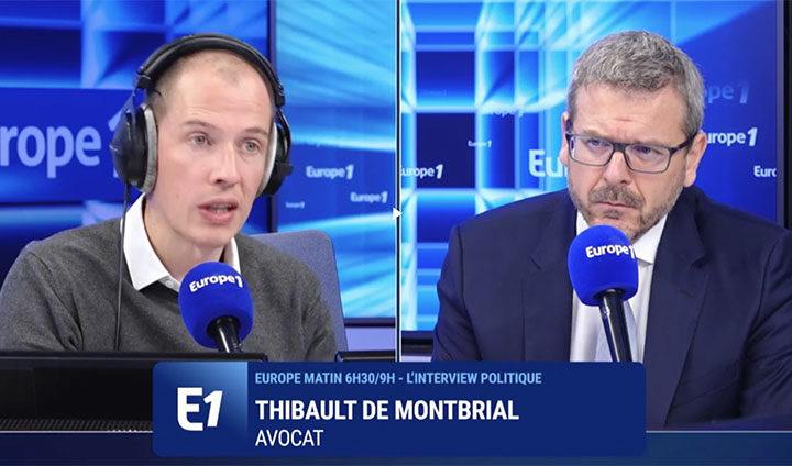 """Thibault de Montbrial: """"dans toutes les tranches de la vie sociale, la violence est en train de redevenir un mode de régulation du conflit"""""""